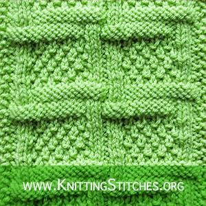 Woven Lattice with Moss Stitch | Textured Stitch Pattern | Knitting Stitch Patterns