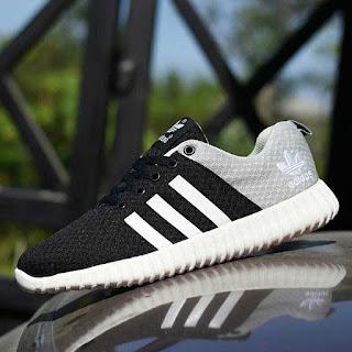 Jaul Sepatu Sport Adidas Yeezy Boost Hitam Abu