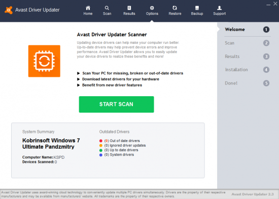 avast driver updater free