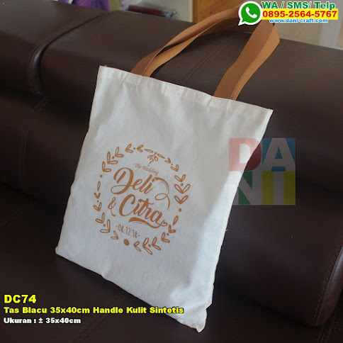 Tas Blacu 35x40cm Handle Kulit Sintetis