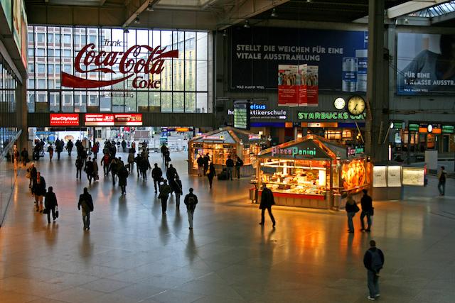Estação de trem em Munique