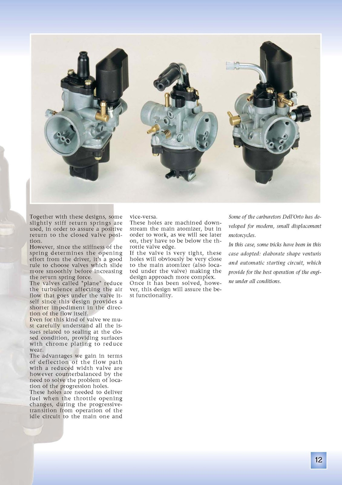 Dellorto Carburetor tuning Manual