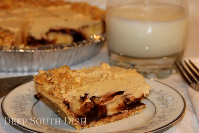Peanut butter paired with chocolate and bananas makes a great pie for any day. Don't forget the milk!