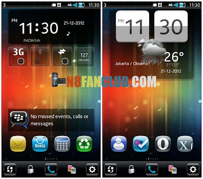 Digital Clock Widget with Profile & Weather for Nokia N8 & other