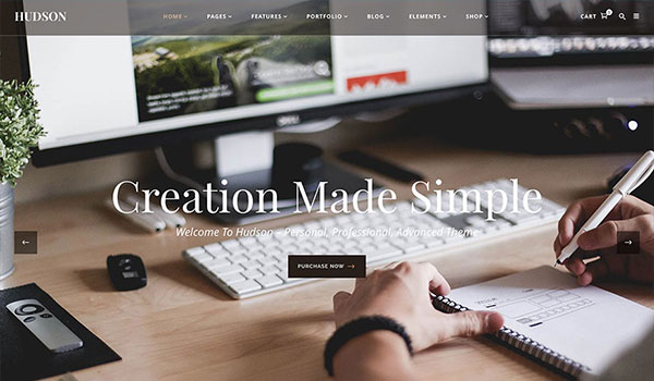hudson-creative-fullscreen-wordpress-theme