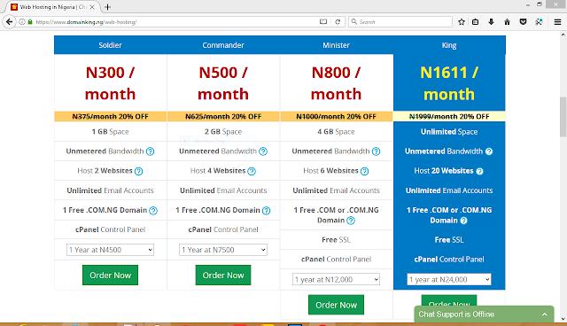 Domainking web hosting plans