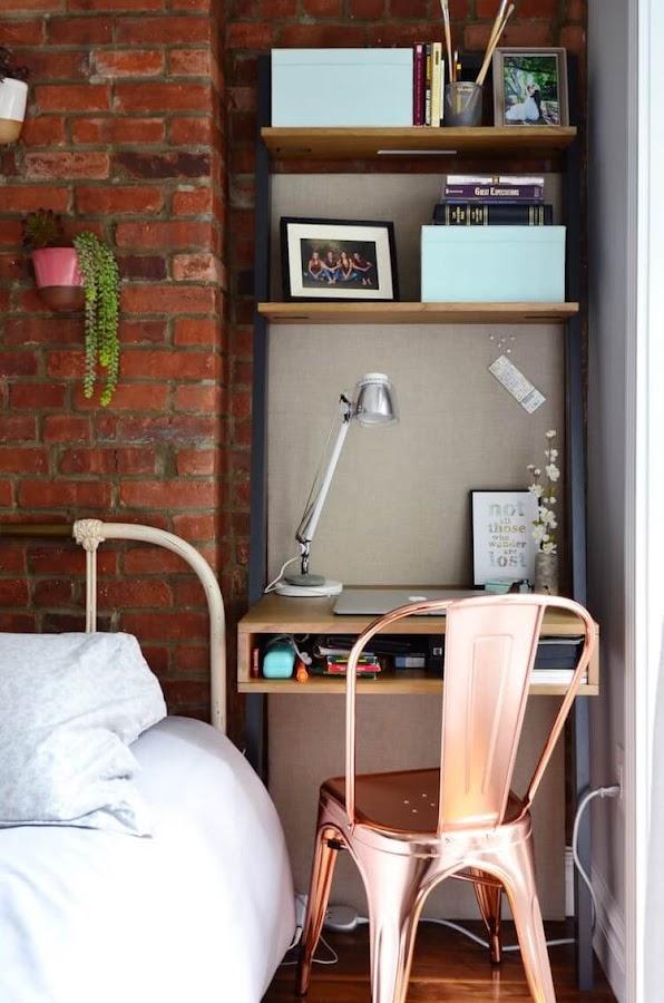 Cómo decorar tu primera casa. Despacho en el dormitorio
