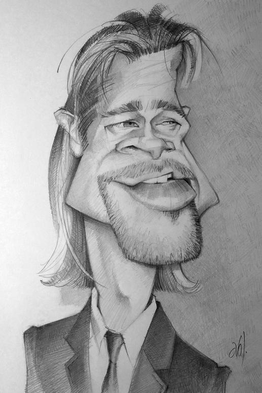 Brad Pitt  por Abel Joachim Crayon