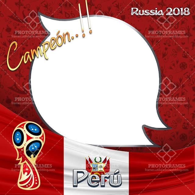 Hermoso marco para fotos de Perú con motivo al mundial Rusia 2018