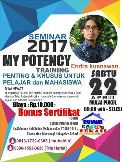 Seminar My Potency Bersama Bang Endra Kusnawan