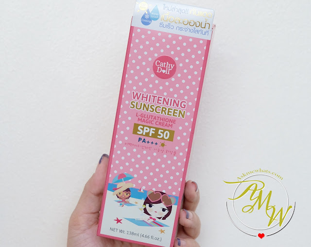 a photo of Cathy Doll Whitening Sunscreen L-Glutathione Magic Cream SPF50 Review by Askmewhats