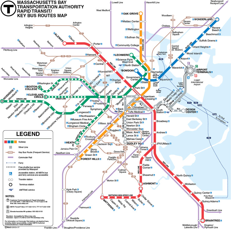 Boston to a T: Back in Boston: an MBTA Student Guide