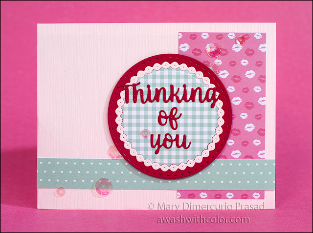 Karen Burniston Twist Circle Pop-up Card Front Your Next Stamp Papers
