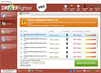 Screenshot DRIVERfighter Pro 1.1.176 Full Version