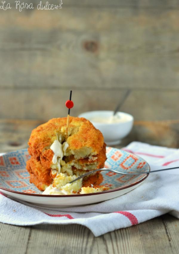 Tortitas de patata y bacalao