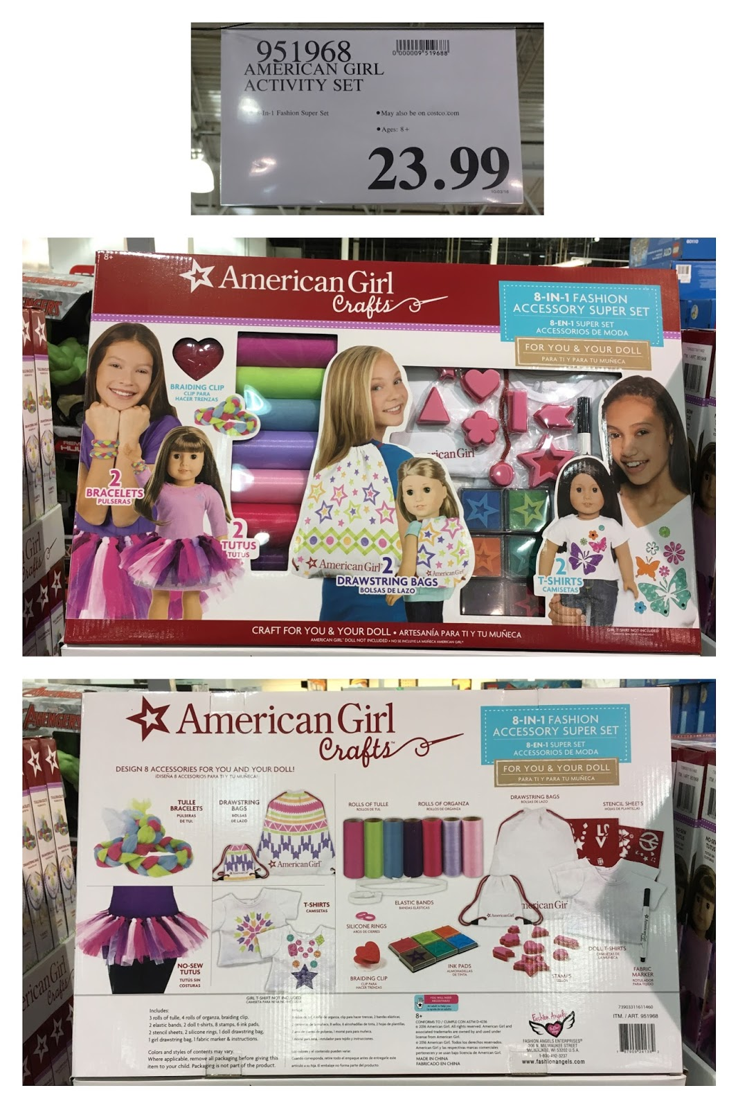 The costco connoisseur costco holiday 2016 americangirl for American girl ultimate crafting super set