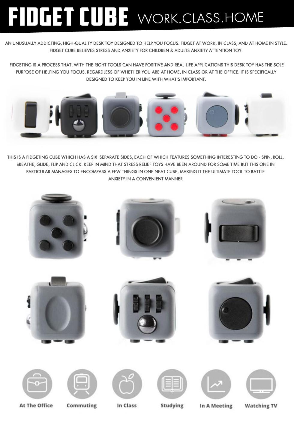 2017 New Hot Fidget Cube Magic ▶Hand Spinner ▶ Gyro Torqbar Anti Stress