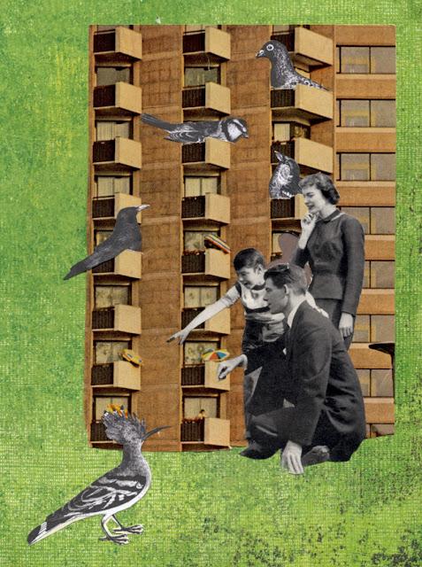 paper cut collage by claudia mazzie-ballheim