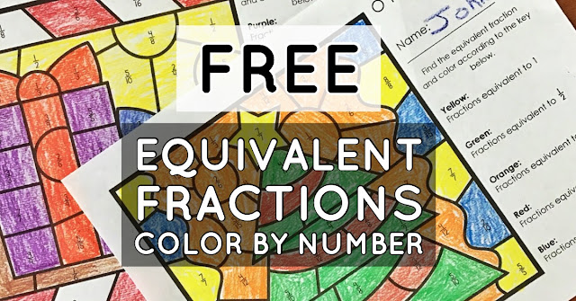 FREE math activities for equivalent fractions