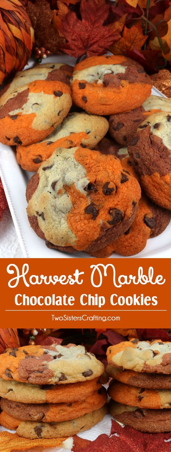 Harvest Marble Chocolate Chip Cookies