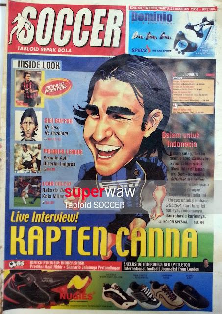 Tabloid SOCCER Live Interview Kapten Canna