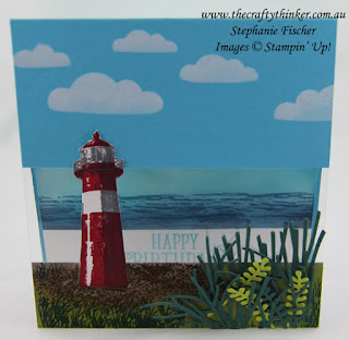 #SDBH, Lighthouse, High Tide, Pattern Party Masks, Split Card, #thecraftythinker, Stampin Up Australiia Demonstrator, Stephanie Fischer, Sydney NSW