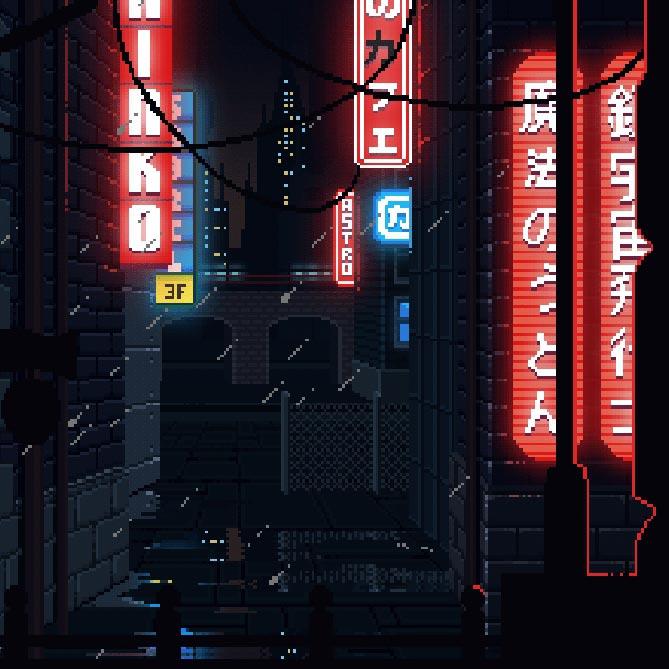 Cyberpunk Pixel Art Wallpaper Engine   Download Wallpaper ...
