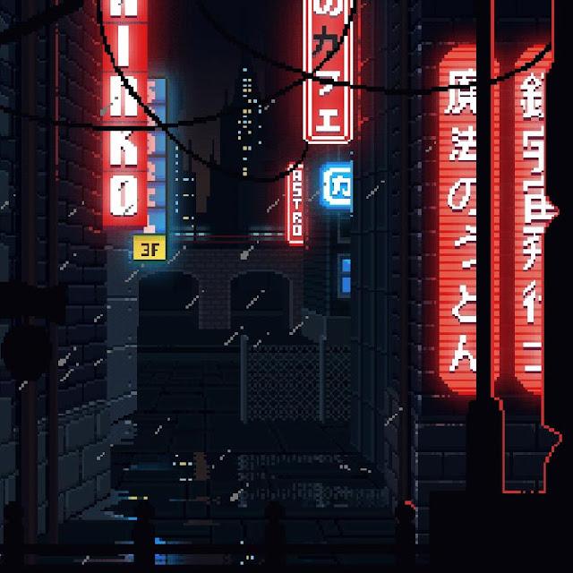 Cyberpunk Pixel Art Wallpaper Engine