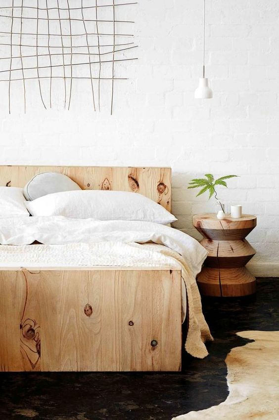 Simple DIY Simple Bedframe A great project if you need a frame too From The Merrythought