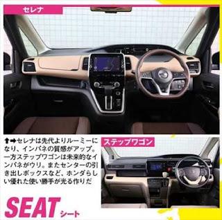 新型セレナ ステップワゴン 内装インテリア比較