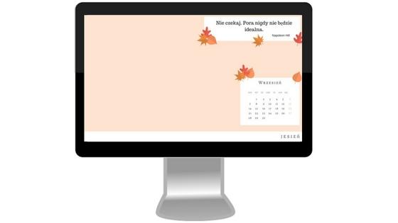 motywująca tapeta na wrzesień