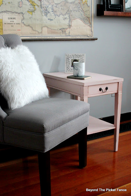 Blush Pink End Table