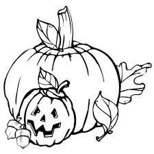 Pumpkin Coloring Pages 4
