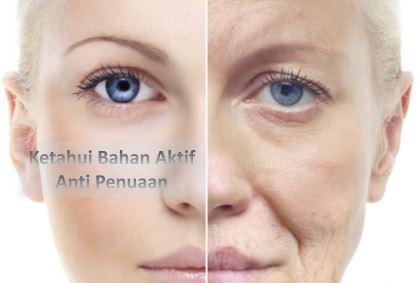 bahan aktif anti penuaan