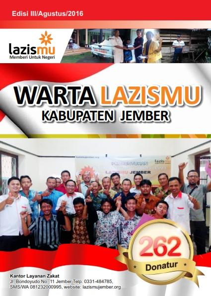 Cover Warta Lazismu Bulan Agustus 2016