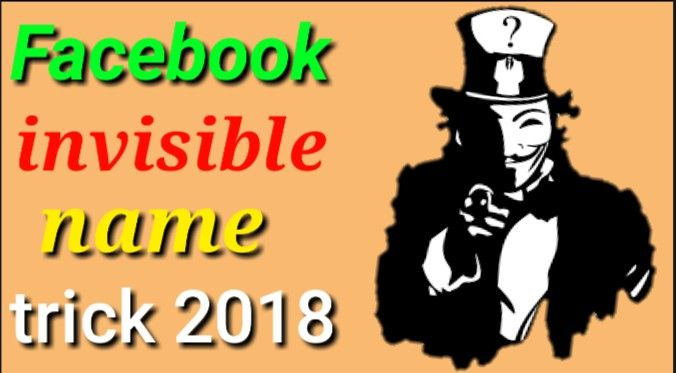 facebook per  invisible (blank) name id kaise banaye - facebook trick 2018