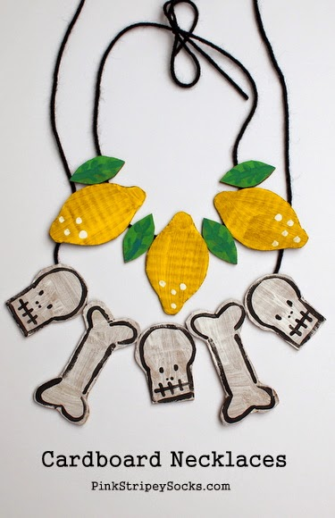 DIY Cardboard Beads to Make Necklaces for Halloween!