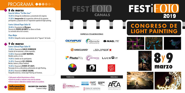 FESTiFOTO 2019 Congreso Light Painting: Programa y Ponentes