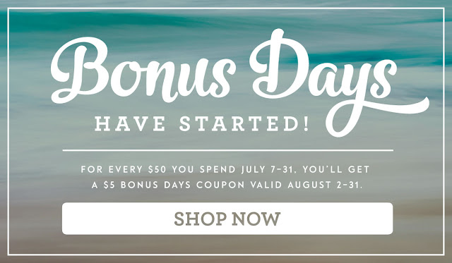 Bonus Days Shop Now