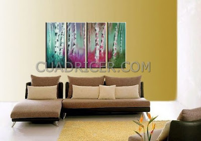 http://www.cuadricer.com/cuadros-pintados-a-mano-por-temas/cuadros-arboles/cuadros-troncos-arboles-arboleda-colores-fantasia-alegre-energia-rosa-turquesa-2185.html