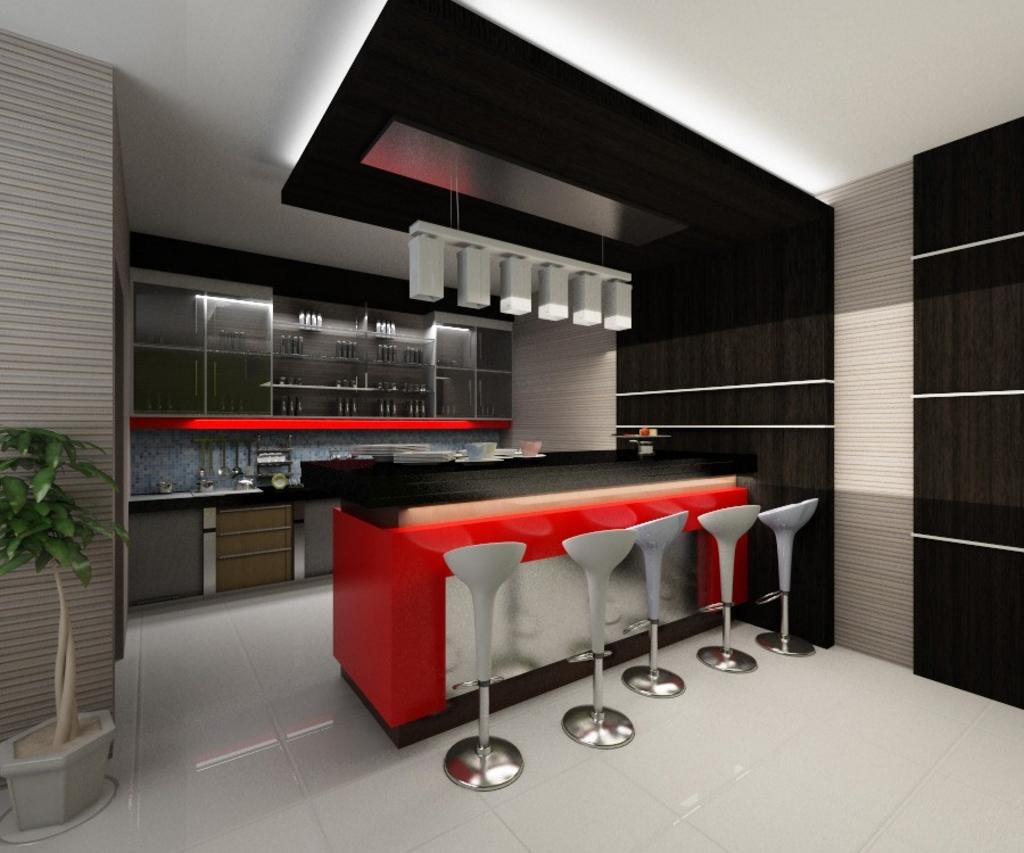 kitchen set dengan meja makan 3