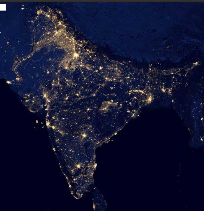 Setelight Map Of India.India Map Satellite