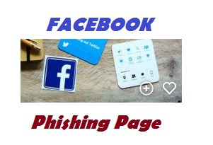Facebook phishing page