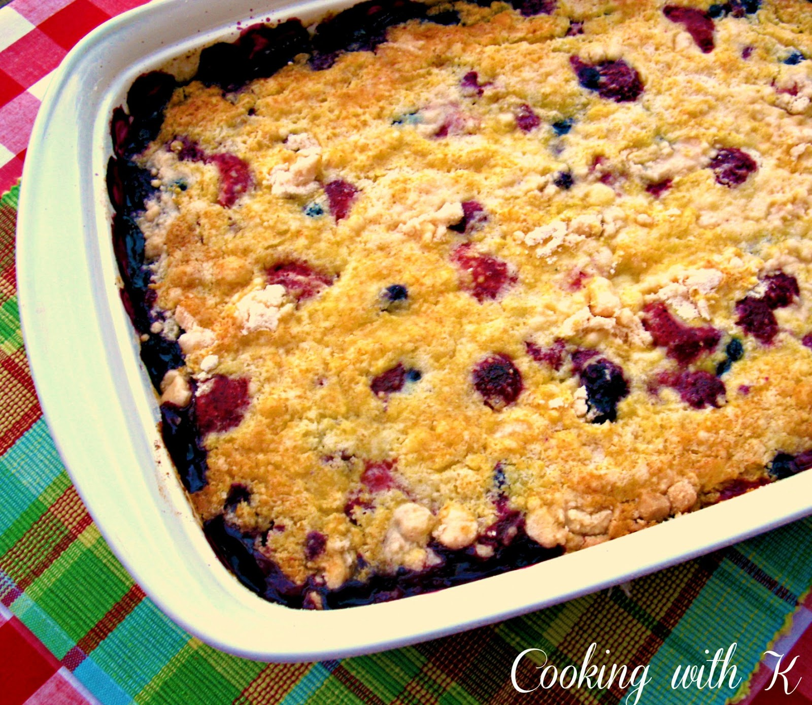 Berry Crisp With Cake Mix And Sprite