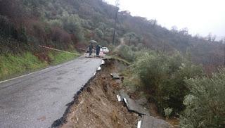 Παρεμβάσεις για ταποκατάσταση των κατολισθήσεων στα χωριά της Αλαγονίας