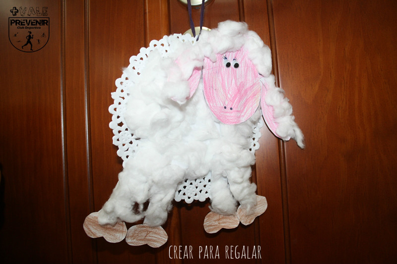 diy manualidades niño oveja algodón