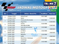 Jadwal MotoGP 2016 di Trans7 Lengkap Jam Tayang