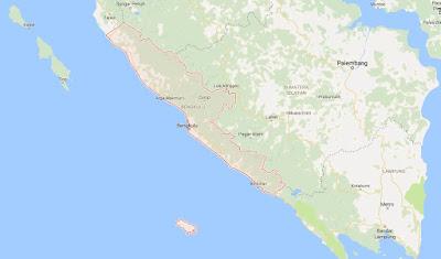 Peta Wilayah Provinsi Bengkulu