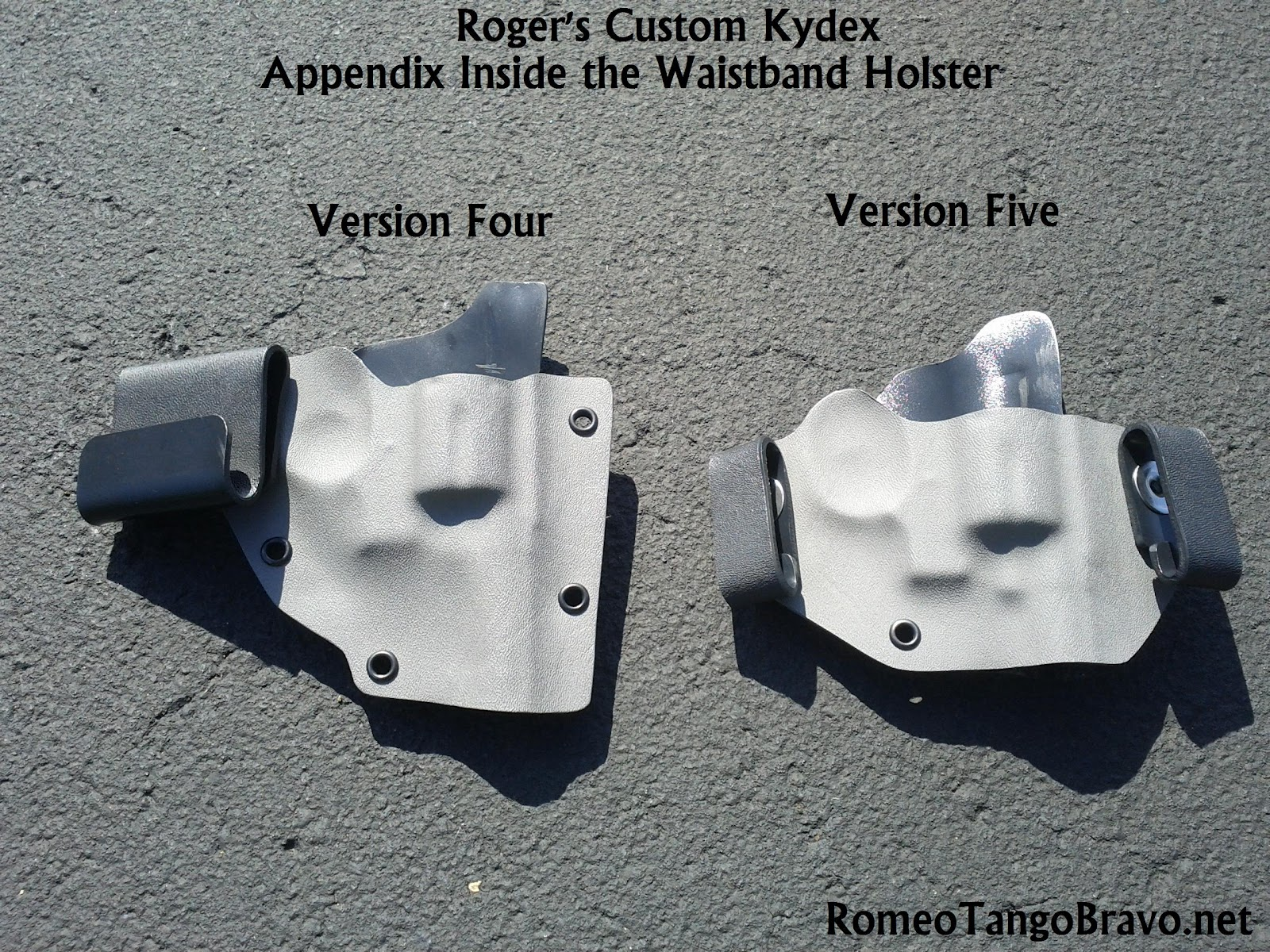 RomeoTangoBravo: Roger's Custom Kydex Holsters Appendix Carry