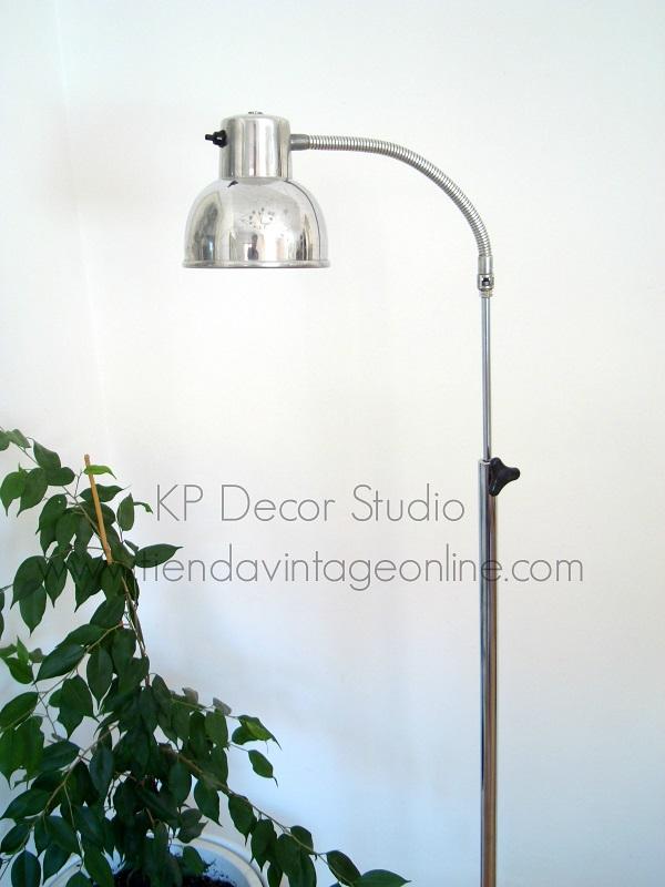 Lámparas de pie vintage estilo industrial con pie metálico